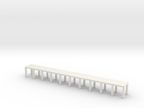 'N Scale' - 5' wide x 50' long Engine Service Plat in White Strong & Flexible