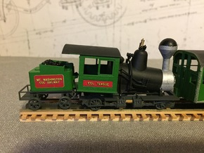 Mt. Washington Cog Railway Locomotive #10 - HO  in Smoothest Fine Detail Plastic