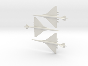 1/700 BOEING 2707-300 SUPERSONIC TRANSPORT 3 PACK in White Natural Versatile Plastic