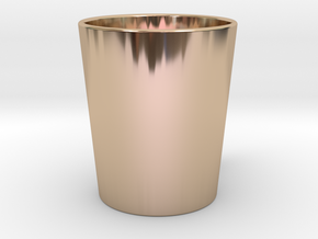 Mug in 14k Rose Gold Plated Brass: Medium