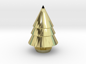 Christmas Tree Decorations in 18k Gold Plated Brass: Medium