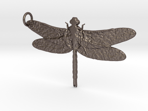 Dragonfly 2 in Polished Bronzed Silver Steel