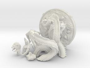Hercules versus Hydra in White Natural Versatile Plastic