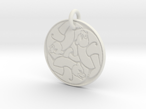 Merida's Bear Pendant in White Natural Versatile Plastic