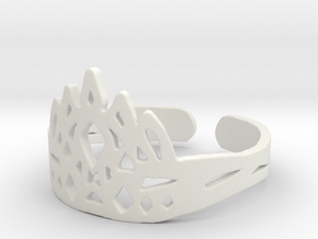 Ice Crown Ring in White Strong & Flexible: 9 / 59