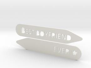 Collar stay: Best Boyfriend Ever  in White Natural Versatile Plastic