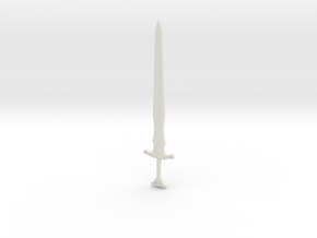 Skyrim Steel Sword in White Natural Versatile Plastic