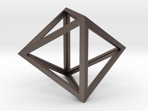Octahedron Pendant in Stainless Steel