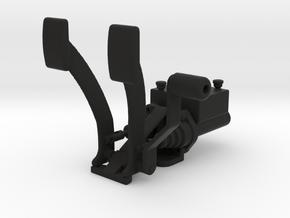 Racing Pedal Box Type 3 - 1/10 in Black Natural Versatile Plastic