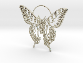 Butterfly 2 in 14k White Gold