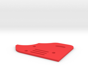 Sideplate Right Version2 for F 1 rear wing in Red Processed Versatile Plastic