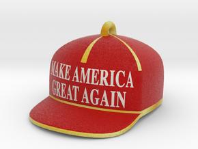 Trump Make America Great Again Red Hat Ornament 20 in Full Color Sandstone