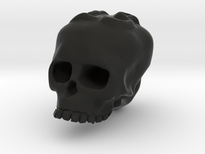 Skull13 Charm in Black Natural Versatile Plastic: Small
