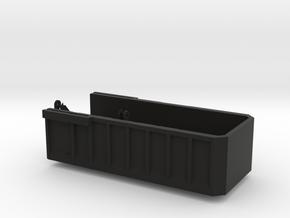 AS20 Bed in Black Natural Versatile Plastic: 1:64