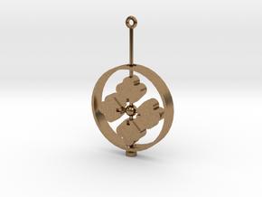 Family Emblem: Hanabishi (Single) in Interlocking Raw Brass