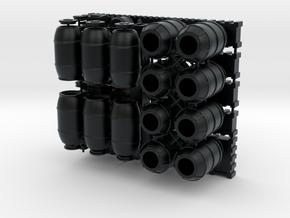 DeAgo Falcon lots & lots of Barrels Boxes & crates in Black Hi-Def Acrylate