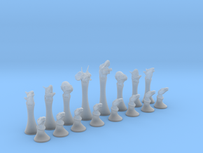 Dinosaurs Chess in Smooth Fine Detail Plastic