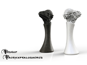 (Chess) Pachycephalosaurus Bishop in White Strong & Flexible