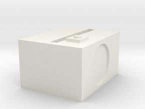 1.3 in White Natural Versatile Plastic