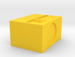 1.3 in Yellow Processed Versatile Plastic: Medium