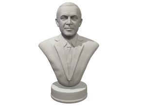 Erdogan portrait bust miniature in White Processed Versatile Plastic