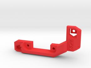 M.2 fan holder (short) in Red Processed Versatile Plastic