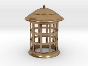 1/6 Scale TARDIS Lamp w/ Bottom Hole v.2 in Natural Brass