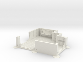 Imperial Assault tile 02A in White Natural Versatile Plastic