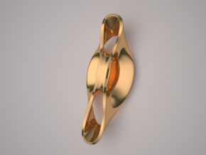 Triple Cube Brass 053 in Polished Brass