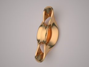 Triple Cube Brass 057 in Polished Brass