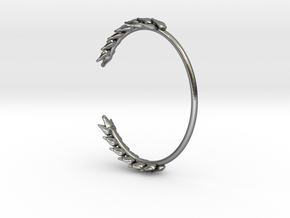 Wheat Bracelet in Polished Silver: Small