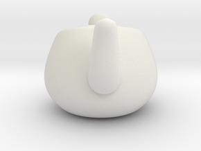 Nizaro T Pot Design08 in White Natural Versatile Plastic: Small