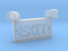 1/10 SCALE EXIT SIGN OPEN BACK in Smooth Fine Detail Plastic