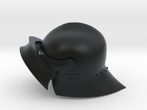 Playmobil - 15th century sallet with open visor in Black Hi-Def Acrylate