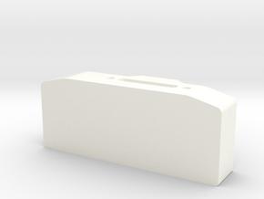 Winch box depth 30 mm for Warn hawse fairlead D90  in White Processed Versatile Plastic