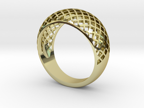 Gitterring 19mm  in 18k Gold