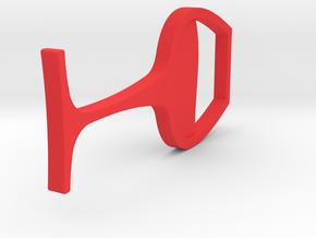 Wine Glass pendant colorful in Red Processed Versatile Plastic: Medium