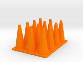 "TC1, Traffic Cones, 1"" Tall, 12 pcs in Orange Processed Versatile Plastic"