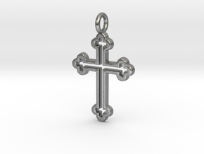 Classic Cross 3 Pendant in Natural Silver