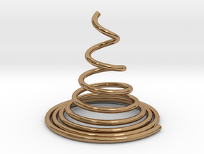 Sping Cone Art in Polished Brass: Small