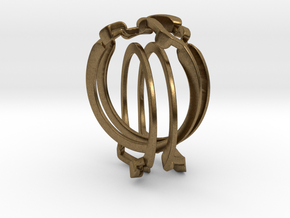 Holistic Ring interlocking metal in Natural Bronze (Interlocking Parts)