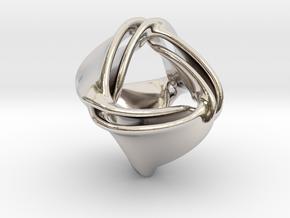 Tetra-ducov (no holes) in Rhodium Plated Brass