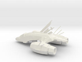 Printle Galactic Starship in White Natural Versatile Plastic