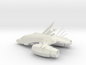 Printle Galactic Starship in White Natural Versatile Plastic