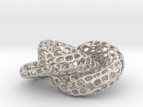 The other Klein bottle (triple twist) in Rhodium Plated Brass