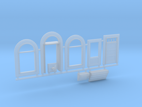 N-scale 1/160 Millie's Cafe Doors, Windows Etc. in Smooth Fine Detail Plastic