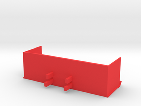 12 Foot Snow Pusher 1:50 Scale in Red Processed Versatile Plastic