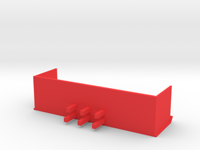 16 Foot Snow Pusher 1:50 Scale in Red Processed Versatile Plastic