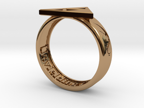 Ring - Triforce of Courage in Polished Brass: 6 / 51.5
