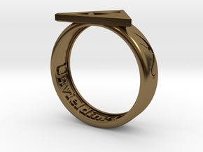 Ring - Triforce of Courage in Polished Bronze: 6 / 51.5